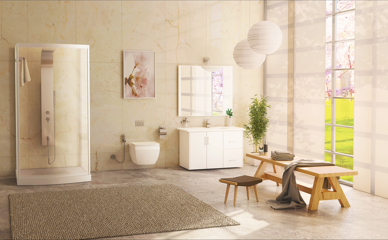 Dream Bathroom | Parryware on family room, dining room, living room, bathroom cabinet, jack and jill bathroom, laundry room,